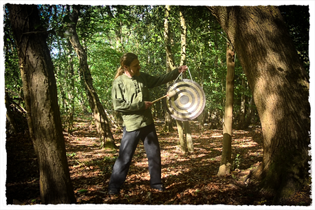 Gong in the woods
